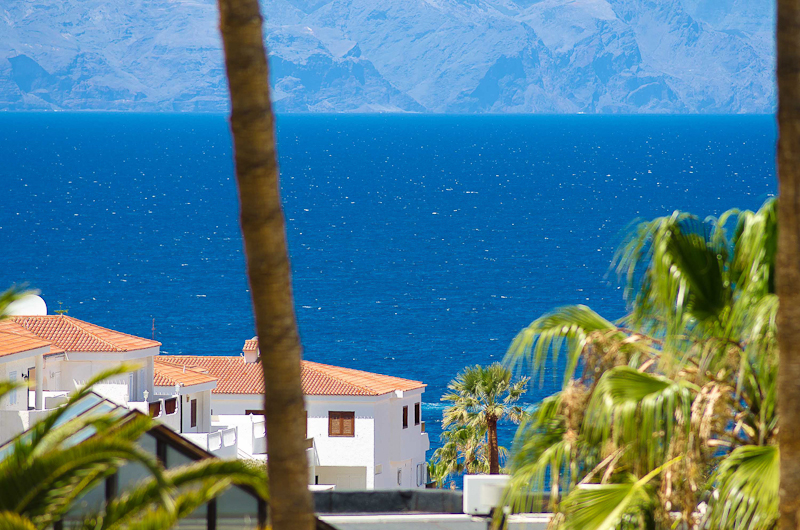 The view down to the sea in Los Gigantes